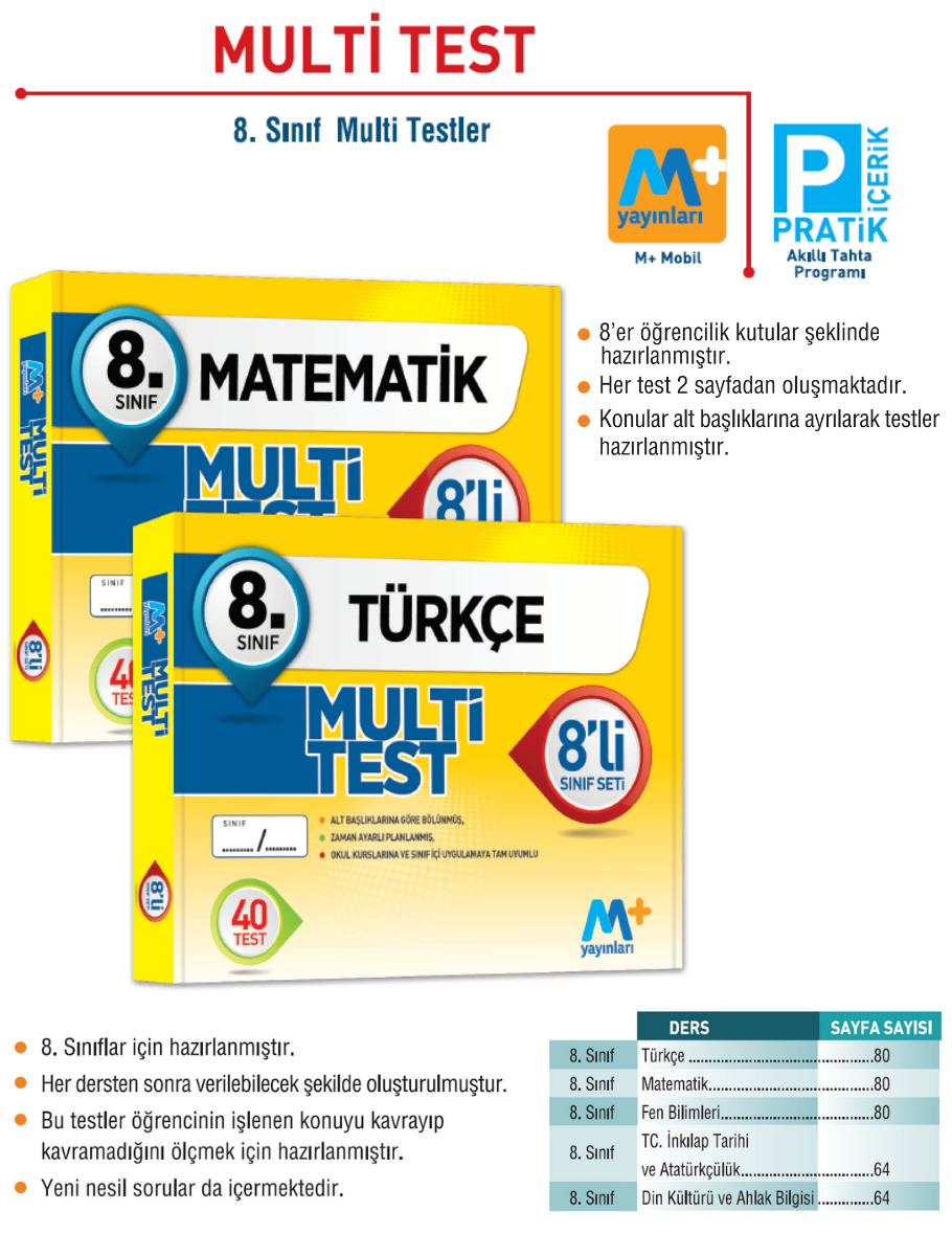 Multi Test 8'li Kutu